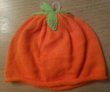 Gymboree HAPPY HARVEST orange Knit Pumpkin Hat 12-18 Mos NWT