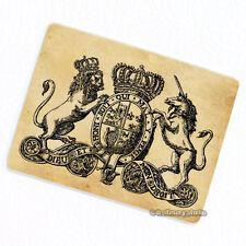 Unicorn & Lion Crest Deco Magnet, Decorative Fridge Antique Illustration Gift