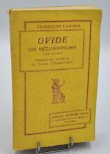 OVIDE - LES METAMORPHOSES Tome 2. Joseph Chamonard - Classiques Garnier bilingue