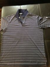 Adidas Climalite Golf Polo Navy with white stripe, size large,
