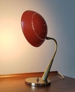 1965 LAUREL Desk Lamp D-571-MCM-Atomic-Flying Saucer-Lightolier/Sarfatti Era-EX!