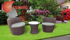 BEACH LOUNGE POLYRATTAN 3PZ FURNITURE OUTER GARDEN HOME MOD. AMPHORA  ART.15449