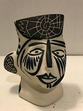Regal Ceramica Artesa Spain Spanish Stoneware Art Pottery Black/White Face Vase