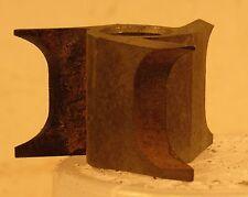 """3 WING STEEL SEMI BULL NOSE SHAPER CUTTER - 1/2"""" BORE, 1 3/4"""" DIAMETER, 1"""" HIGH"""