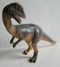 """Jasman 2001 Plastic dinosaur Dilophosaurus double crested figurine 16"""" x 8"""""""