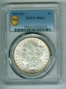 U.S. 1891-CC MORGAN DOLLAR TOP 100 VAM 3 SPITTING EAGLE PCGS MS-61 UNC