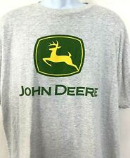 Vintage John Deere Mens T Shirt Heather Gray Graphic Green Tractor Distressed XL