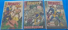 Marvel Comics The Avengers Lot # 40 41 42 Sub-Mariner Goliath Hercules Dragon