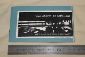 (MB3/B) Brochure catalogue The story of styling at Ford Motor Company