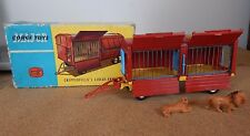 Vintage CORGI 1123 Chipperfields circus animal cage avec animaux