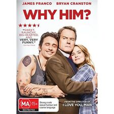WHY HIM?-DVD-James Franco, Zoey Deutch-Region 4-New AND Sealed