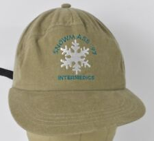 Beige Snowmass 97 Embroidered Baseball Hat Cap Adjustable Leather Strap