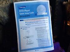 SAMSUNG DVD - HD870 PLAYER QUICK SETUP GUIDE INSTRUCTION LEAFLET PHAMPLET