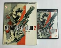 Metal Gear Solid 2 : Sons of Liberty PS2 Game & Official Strategy Guide B02
