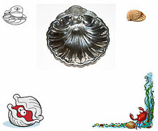 VINTAGE. SILVER PLATE CLAM SHELL SERVER. CANDY OR BUTTER DISH. USA SELLER.