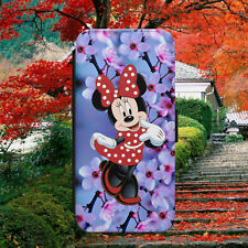 DISNEY MINNIE MOUSE CUTE FLIP WALLET PHONE CASE COVER FOR IPHONE SAMSUNG HUAWEI