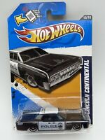 HOT WHEELS 2012 HW MAIN STREET 1964 LINCOLN CONTINENTAL POLICE FREE SHIPPING