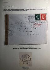 1940 The Hague Netherlands Censored Cover To Batavia Dutch East Indies