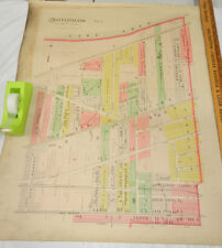 1892 Color Plat Map, Cuyahoga County, Oh/West Cleveland Township, Part 1 b/w #2