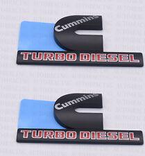 FOR Dodge RAM 2500 Grille Tailgate Cummins Turbo Diesel Emblem Badge Black 2 PCS