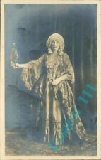 Woman In A theatre Costume and wig Real photo By wallsend on tyne studio