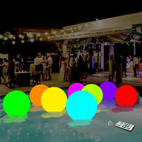 """16"""" Swimming Pool Toy 13 Colors Glowing Ball Inflatable LED Glowing Beach Ball"""