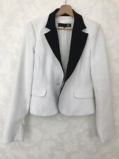 Just Cavalli Women Blazer/ White & Black /Size: 40 IT RRP £320