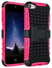 Pink Heavy Duty Dual Layer Shockproof Hybrid Case for Apple iPod Touch 6 & 5 Gen