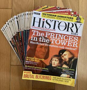 BBC History Magazine Bundle (19 x copies) - 2019 / 2020 / 2021