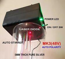 COLLOIDAL SILVER GENERATOR MK3(48V), 5MM SILVER, AUTO POLARITY/LASER/STIRRER