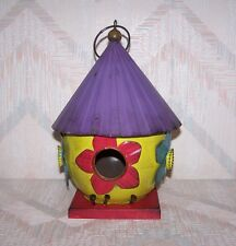 Bird Folk Art Birdhouse Regal Art Folk Birdhouse Yellow