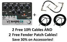 New Tech 21 Sansamp Vt Bass Driver Di Bass Guitar Pedal! Free Cables!