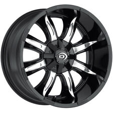 "4-Vision 423 Manic 18x9 6x135/6x5.5"" -12mm Black/Machined Wheels Rims 18"" Inch"