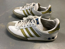 ADIDAS KEGLER SUPER WHITE SIZE 10.5 TRI-COLOR VARIO PLUGS (FOREST HILLS LOOK)