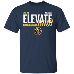 Men's Denver Nuggets 2021 Basketball Playoffs Bound Dunk Navy T-Shirt S-4XL