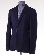 New Z ZEGNA Unstructured Medium Navy Blue Jersey Blazer 36 R Sport Coat
