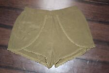 Forever 21 Olive Green Skirted Front Culotte Shorts Size M Juniors