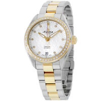 Alpina Comtesse Silver Dial Two Tone Stainless Steel Ladies Watch AL525STD2CD3B