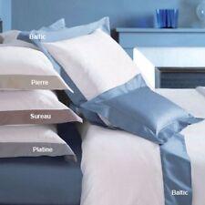 $362 Yves Delorme Paris Cocon Queen Sateen Flat Sheet Set Sureau 2 boudoir shams