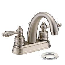 Designers Impressions Satin Nickel Lavatory Bathroom Vanity Faucet  #611625