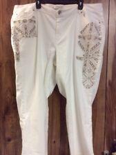New Cato Contemporary White Jeans Size 24W