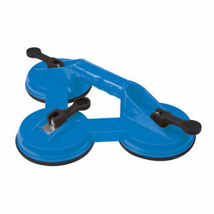 Heavy Duty 100kg Triple Rubber Suction Pad Cup Glass Lifter Carry Puller Sucker