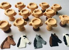 24 Edible Melbourne Cup Party Cupcake Toppers Decorations Cakes Horses Trophy