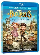 The Boxtrolls 3D [BR3D + Blu-ray + DVD Movie, Family, Region A, 2-Disc] NEW