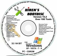 Hiren's Boot CD 15.2 & USB, TOOLS, DISK WIPERS, for HP DELL COMPAQ IBM LENEVO