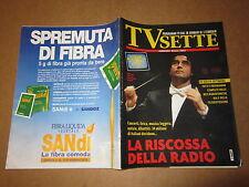 RIVISTA TV SETTE N°4/1996 R.MUTI P.PRATI G.SABANI FIORELLO IACCHETTI
