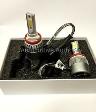 72W 7600LM COB LED Headlight Conversion Kit Lamp Bulb Beam H11 F-150 2015-2017