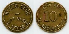 VERY RARE NCO CLUB 10c MILITARY TOKEN CAVALRY FORT CLARK, KINNEY CO., TEXAS TX