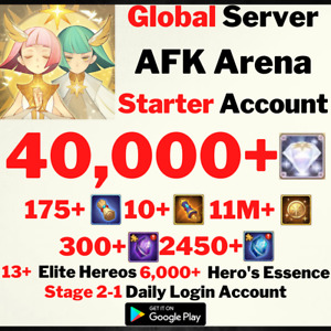 [GLOBAL/ANDROID] 40000+ DIAMONDS | AFK ARENA STARTER ACCOUNT