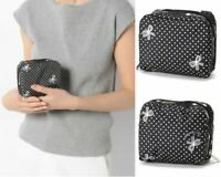 LeSportsac JPN Exclusive Makeup Bag SQUARE COSMETIC Ruban Mignon Japan Tracking